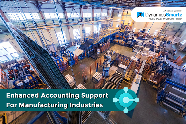 Accounting support for Manufacturing Industry